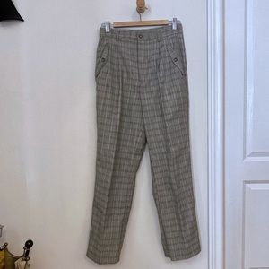 Wrangler highwaisted pants cream/navy/black plaid